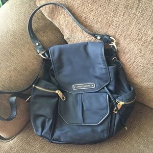 Juicy Couture black backpack w/ magnetic snap